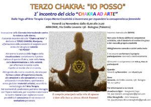 Volantino Terzo Chakra - ChakraAdArte, Yoga e Arteterapia