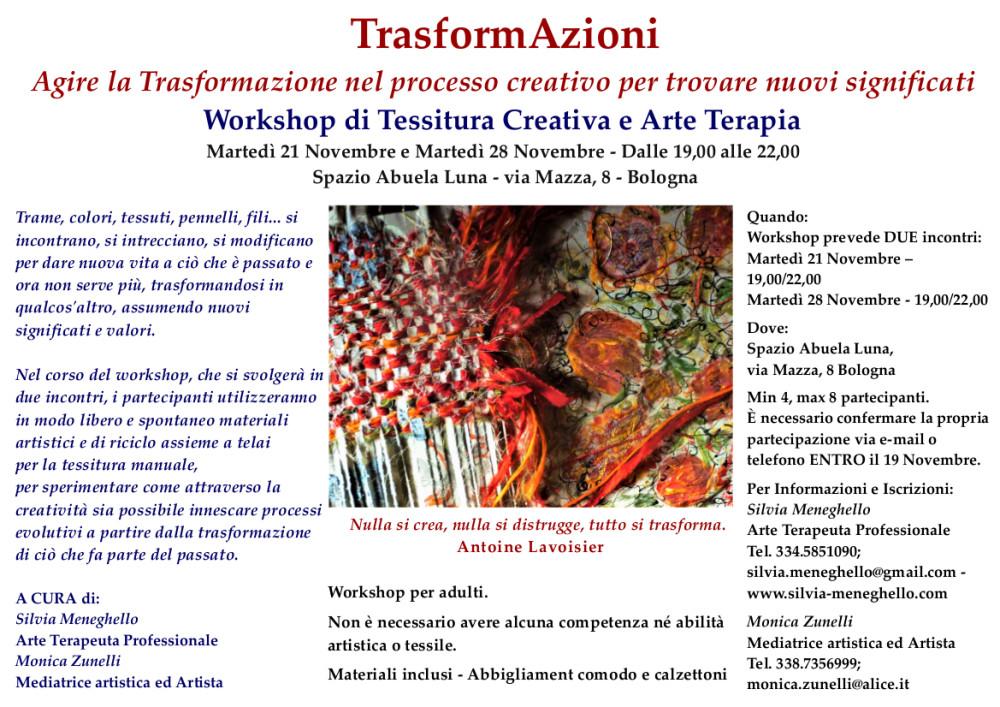 TrasformAzioni  Workshop di Tessitura Creativa e Arte Terapia